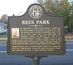 Rees Park Marker, Americus GA