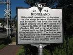Ridgeland Marker (Obverse), Ridgeland, SC