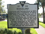 Ridgeland Marker (Reverse) Ridgeland, SC