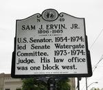 Sam J Ervin Marker, Morganton, NC by George Lansing Taylor Jr.