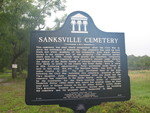 Sanksville Cemetery Marker, Bakersville, FL