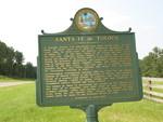 Santa Fe de Toloca Marker (Obverse), Bland, FL by George Lansing Taylor Jr.