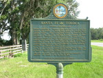 Santa Fe de Toloca Marker (Reverse), Bland, FL