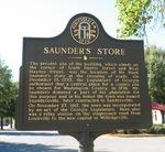 Saunders Store Marker, Sandersville GA