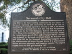 Savannah City Hall Marker, Savannah, GA by George Lansing Taylor Jr.