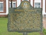 Seminole County Marker, Donalsonville, GA