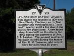 St. Matthew Baptist Marker, Ridgeland, SC