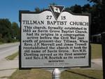 Tillman Baptist Marker (Obverse), Tillman, SC