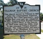 Tillman Baptist Church Marker (Reverse), Tillman, SC