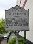Tod R Caldwell Marker, Morganton, NC