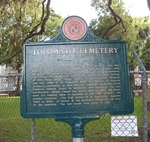 Tolomato Cemetery Marker, St. Augustine, FL by George Lansing Taylor Jr.