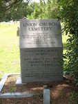 Union Church Cemetery Monument, Lakeland, GA by George Lansing Taylor Jr.