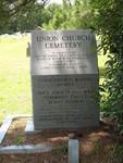 Union Church Cemetery Monument, Lakeland, GA