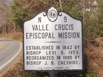 Valle Crucis Episcopal Mission Sign, Valle Crucis, NC