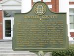 Wheeler County Marker, Alamo, GA