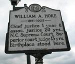 William Hoke Marker, Lincolnton, NC