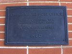 Post Office (31639) Dedication Plaque, Nashville, GA