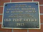 Former Post Office (31792) Plaque, Thomasville, GA