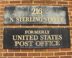 Former United States Post Office (28655) Plaque, Morganton, NC