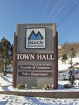 Beech Mountain Town Hall Sign, Beech Mountain, NC