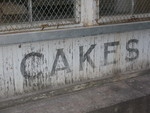 Cakes Sign, Henry River Mill Village, North Carolina