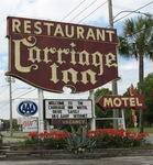 Carriage Inn Sign, Cross City, FL