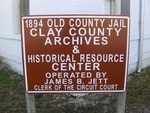 Clay County Archives & Historical Resources Center Sign, Green Cove Springs, FL