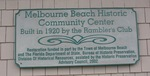 Melbourne Beach Community Center Historical Marker, Melbourne Beach, FL