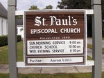 St. Paul's Episcopal Church at Federal Point Sign, East Palatka, FL