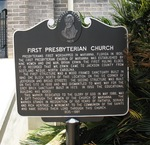 First Presbyterian Church Historical Marker, Marianna, FL by George Lansing Taylor Jr.