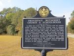 Providence Methodist Church & Schoolhouse Marker (Obverse) Batesville, AL by George Lansing Taylor, Jr.