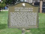Athens Sacked and Plundered Marker, Athens, AL by George Lansing Taylor, Jr.