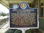 City of Evergreen Marker, Evergreen, AL by George Lansing Taylor, Jr.
