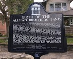 Birth of the Allman Brothers Band Marker (F-1032) (Obverse), Jacksonville, FL by George Lansing Taylor, Jr.