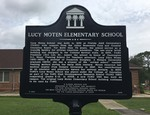 Lucy Moten Elementary School Marker F-834, Tallahassee, FL by George Lansing Taylor, Jr.