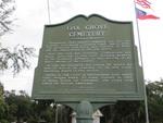 Oak Grove Cemetery Marker Brunswick, GA by George Lansing Taylor, Jr.