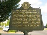 Ann I. Baker 1873-1931 Marker Paducah, KY by George Lansing Taylor, Jr.