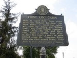 First Log Cabin Marker Paducah, KY by George Lansing Taylor, Jr.