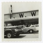Spectators Outside F.W. Woolworth and Co. Building