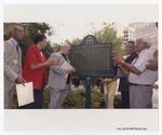 40th Anniversary Group Photo Near Historic Landmark Sign, Hemming Plaza