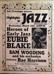 Highlights in Jazz Concert 035 – Heroes of Early Jazz