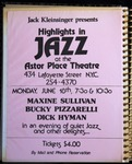 Highlights in Jazz Concert 005 – An Evening of Quiet Jazz