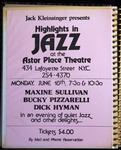 Highlights in Jazz Concert 005 – An Evening of Quiet Jazz