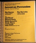 Highlights in Jazz Concert 010 – Accent on Percussion by Jack Kleinsinger and Danny Gottlieb