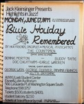Highlights in Jazz Concert 015 - Billie Holiday Remembered by Jack Kleinsinger and Danny Gottlieb