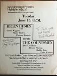 Highlights in Jazz Concert 028 – Helen Humes Meets the Countsmen