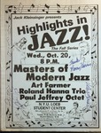Highlights in Jazz Concert 031 – Masters of Modern Jazz