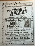 Highlights in Jazz Concert 033 – Salute to Milt Hinton