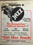 Highlights in Jazz Concert 038 - We Remember Cliff Brown