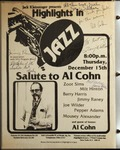 Highlights in Jazz Concert 040 - Salute to Al Cohn